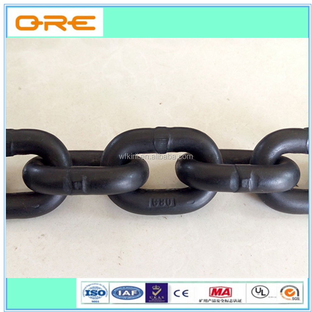 High Tension Round Link G80 14mm Mining Chain
