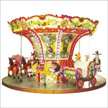 Good design entertainment fiberglass 6 seats electric carousel/electric merry-go-round