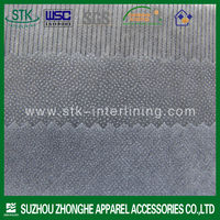Fusible polyester nonwoven interlining for garment