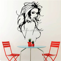 Removable wall decal sexy naked lady wall stickers for living room ( ZY 8466)