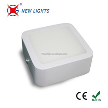 China surface mounted square led panel light 6w 9w indoor ceiling lighting