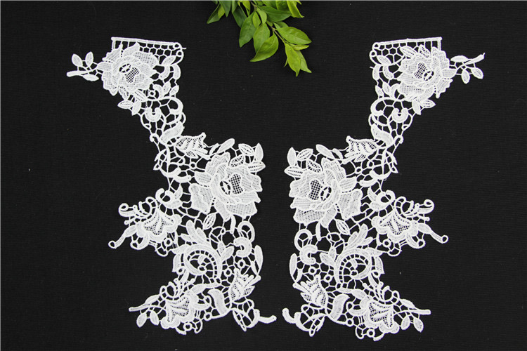 neck lace embroidery trim cotton lace collar