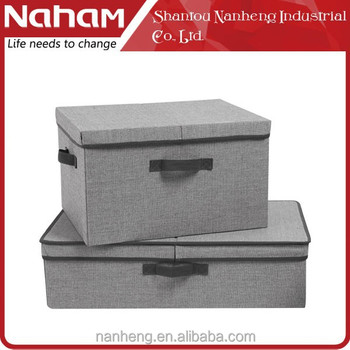 NAHAM foldable multipurpose non-woven fabric lined clothes storage box