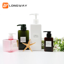 100ml Luxury MUJI Liquid Plastic colored Empty Foundation Custom Foam Shampoo PETG Bottle Rectangle With Cosmetic Pump