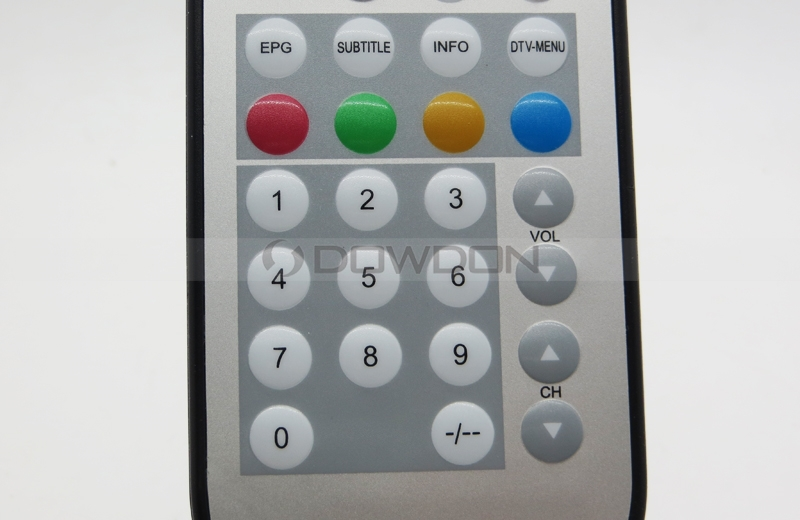 Custom Waterproof TV Remote Control With Membrane keypad for TV in Bathroom Sauna Room