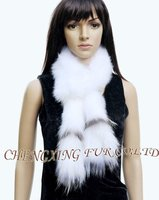 CX-S-08 White Fox Fur Fashion Scarf New Arrival Product