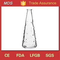 Tall clear knobby long flower glass vase wholesale