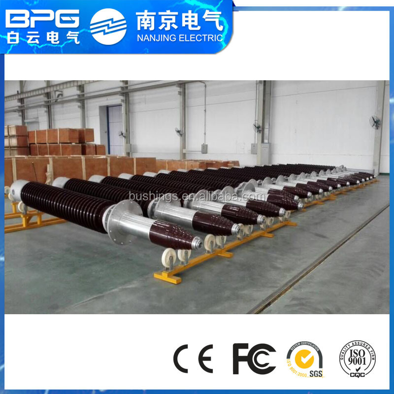 OIP porcelain condenser bushing with test tap for power transmission