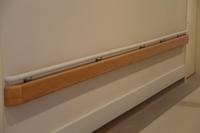 Wall mounted PVC grab bar/ round hospital handrail/ corridor handrail