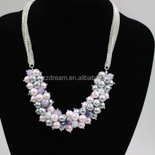 2015 Fashion Excellent Statement Necklace Handmade Acrylic Beads Necklace Jewelry