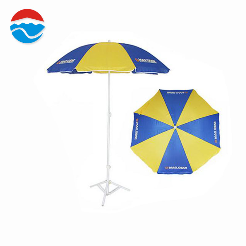 174CM*8K blue and yellow promotional sun parasol