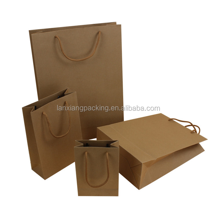 Custom Reusable Folding Shopping Bags Biodegradable Kraft Paper Bag