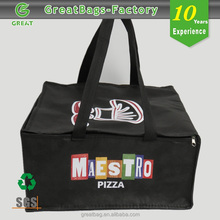 Custom big size pizza food delivery cheap cooler bag
