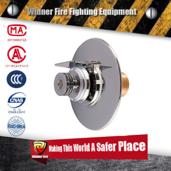 Firefighter Stainless steel concealed Sprinkler head with 68 response degree