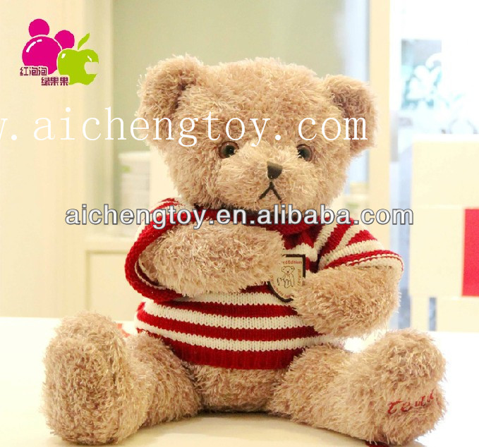 Custom top quality cartoon soft plush crochet knitting doll