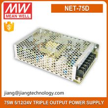 NET-75D 75Watt 5V 12V 24V Switching Power Supply Meanwell Triple Output Power Supply