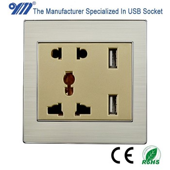 OM 5V 1000mA Universal wall socket with USB port charger