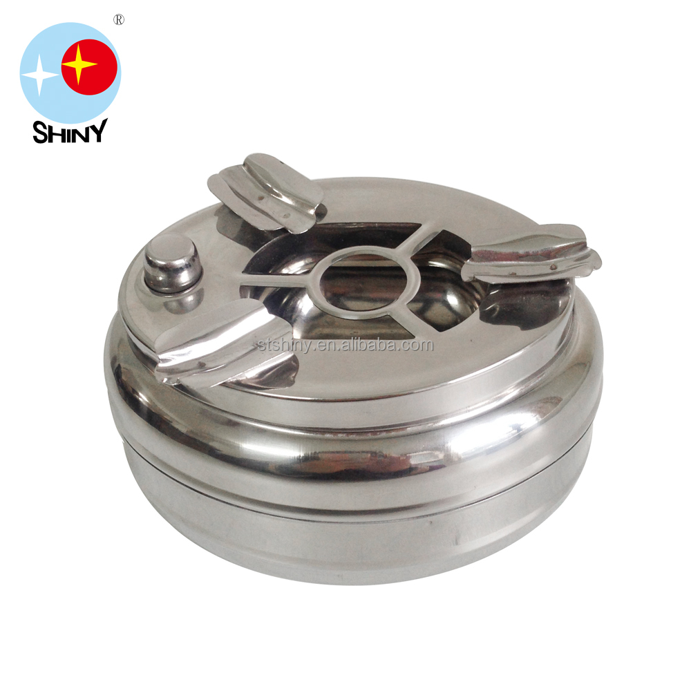 Stainless Steel Ashtray With Custom Logo Windproof Cigar Ashtray