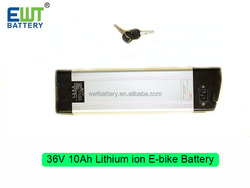 High quality BMS controlled LiFePO4 36V 10Ah ebike battery pack