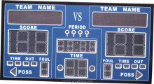 Cheap warterproof outdoor LED scoreboard with shot clock