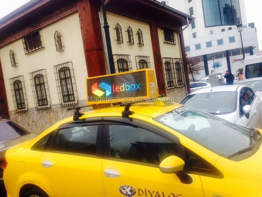 Outdoor top taxi display led, high quality taxi led advertising digital sign p5 p6