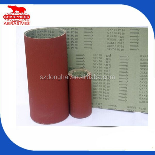 HD121 aluminum oxide abrasive cloth roll jumbo roll for grinding wood ,metal and stainless steel