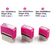Colorful Self Inking Pocket Rubber Stamp