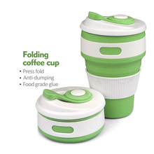 Wholesale Durable Heat-resistant Portable Silicone Collapsible Coffee Cup 350ml