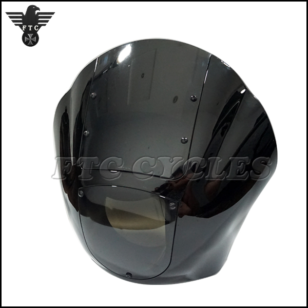 Vintage Motorcycle Black Custom Fairing for Harley XL 1988 Up Dyna 95-05