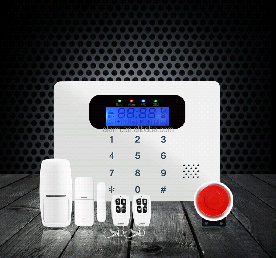 Latest wired wireless home SMS gsm SOS alarm medical manufacturer
