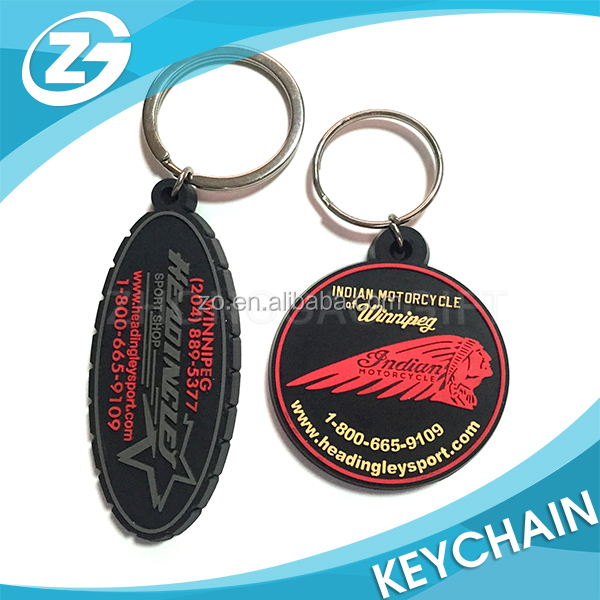 Wholesale Promotion Motorcycle Competition Souvenir Gift Die Cut 2D Rubber Key Ring