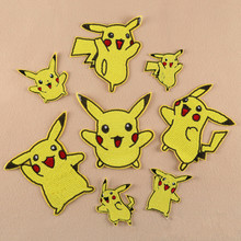 PIKACHU POKEMON EMBROIDERED BADGE LOGO IRON ON PATCH Wholesale