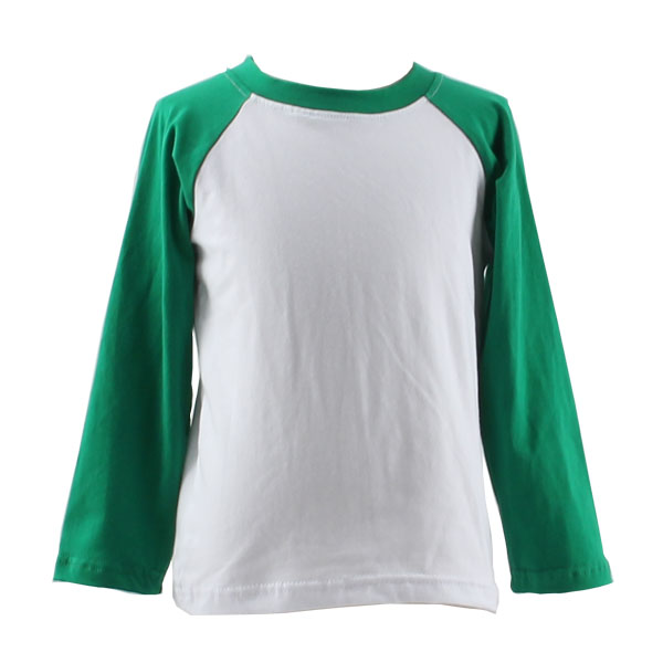China Factory OEM Raglan Long Sleeve Blank Boutique Toddler Baby Kids Children Raglan Shirts