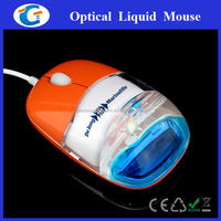 custom wired optical funny computer mouse with liquid inside