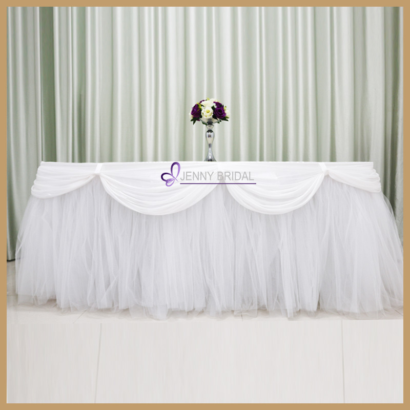 TC091G fancy wholesale puffy tutu wedding tablecloth banquet table cloth for center table