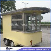 2015JX-CR320 Luxury Street Mobile Food Kiosk Coffee Cart for sale