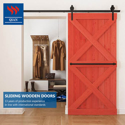 100% imported solid wood hanging wooden sliding interior door for living room