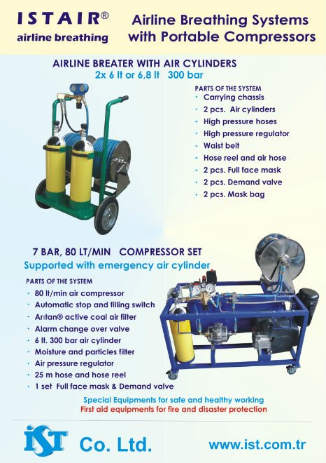 ISTAIR Airline Breathing Systems with Portable Compressors