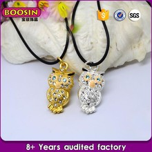 High quality low price owl and pig necklace