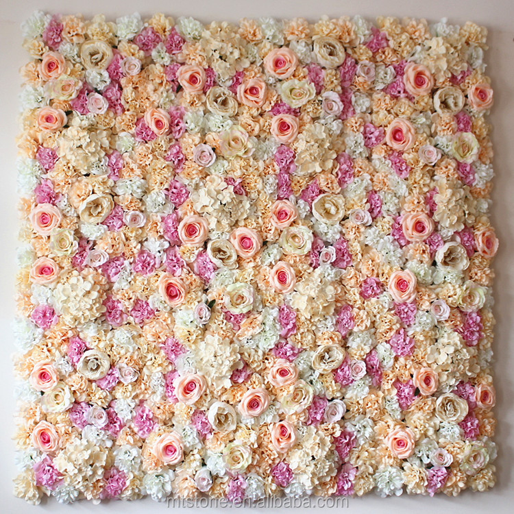 L01025 Artificial Flowers Wall Background Decorative Row of Flowers