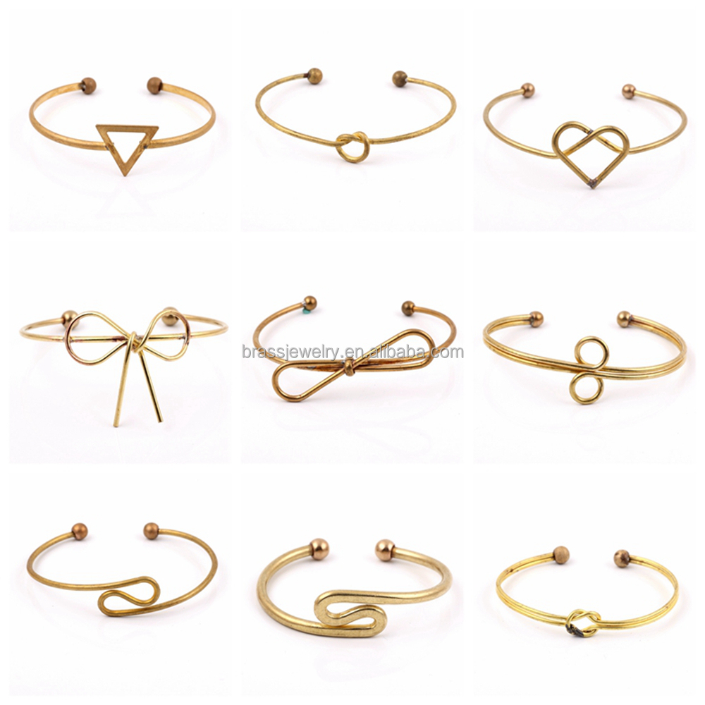 Hot Selling Classic Design Adjustable Wholesale Jewelry Gold Plated Brass bangle for Men and Women