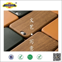 New Design! imitation wood grain tpu stick a skin cover case for iphone 6