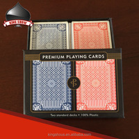 Custom logo 100% new plastic playing cards with paper gift box