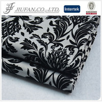Jiufan Textile Good Quality Roma with Flocking Polyester Spandex 95/5 Ponti Fabric For Lady's Sweater Garment