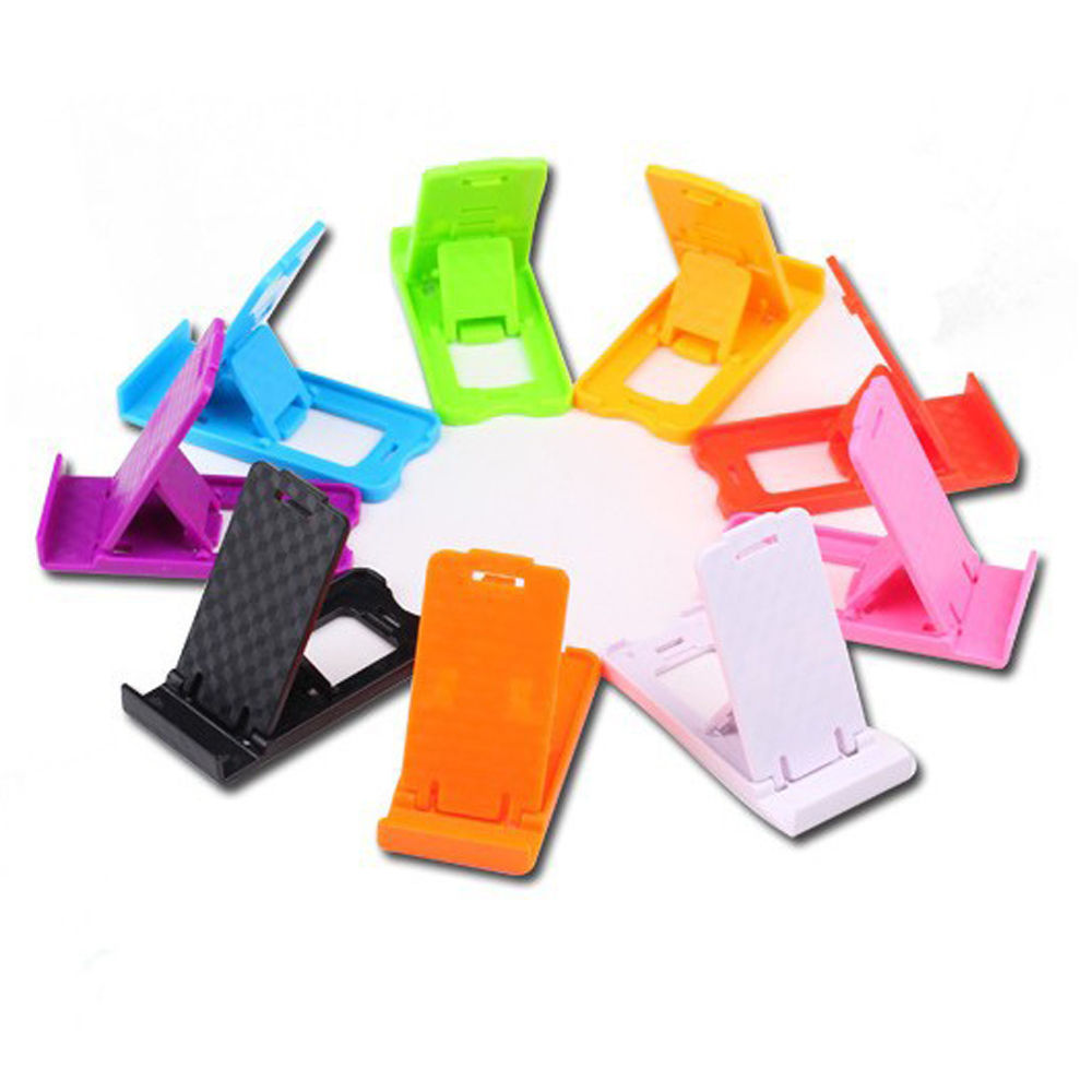 alibaba hot selling plastic portable funny Universal foldable mini cell phone stand holder for desk