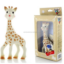 BPA-free Soft Natural latex giraffe teether,vulli sophie the giraffe teether