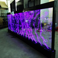 swirl water bubble wall colourful indoor acrylic bubble wall water panels
