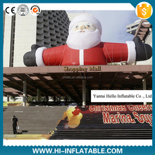 Top roof decoration inflatable Santa Claus for Christmas decoration