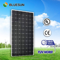 TUV CE ISO UL 25years warranty Bluesun factory direct supply 300w monocrystalline solar panel price china