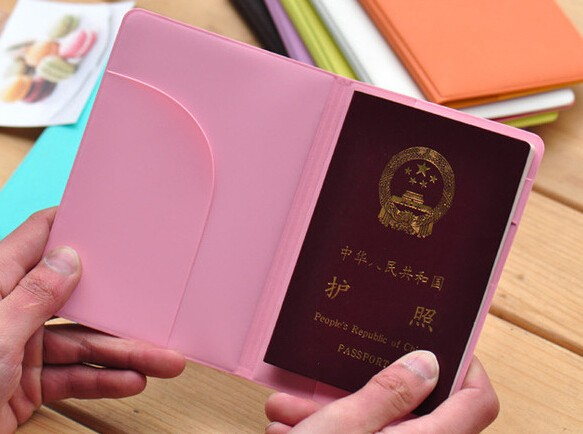 Cheaper Price 2016 Fashion Design In Various Color Leather Material Passport Cover